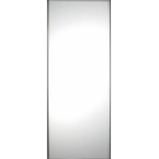 "SILVER FRAME MIRROR SLIDING WARDROBE DOOR SINGLE PANEL 914mm (36"")"